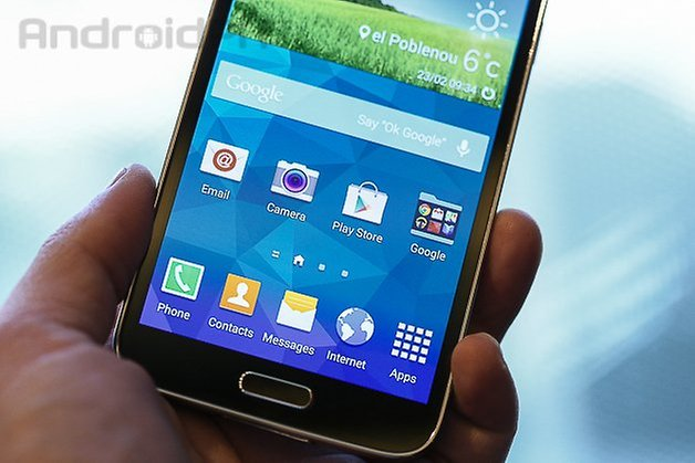 AndroidPIT con el Galaxy S5.