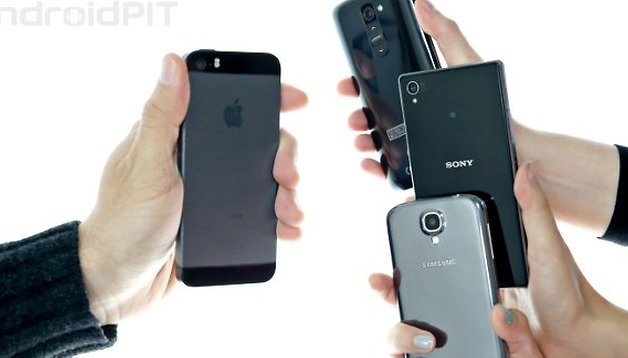 iPhone 5S Vs Galaxy S4, LG G2 e Sony Xperia Z1