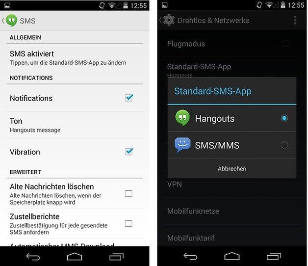 nexus5 hangouts sms