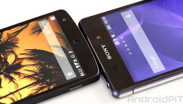 Comparación entre el Sony Xperia Z2 y el Nexus 5