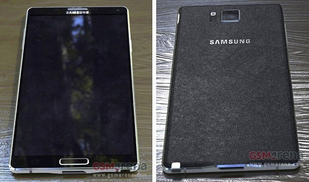 note 4 leak front back