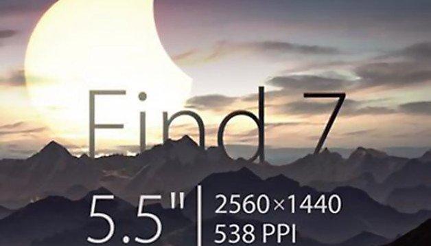 Oppo Find 7: Ultrascharfes 2K-Display mit 5,5 Zoll bestätigt
