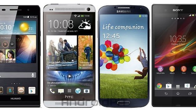 Ascend P6 vs HTC One, Galaxy S4, and Xperia Z