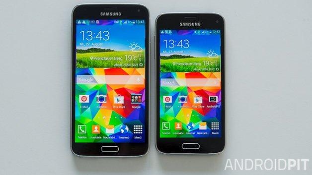 s5 s5 mini front comparison