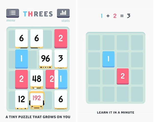 threes screenshots