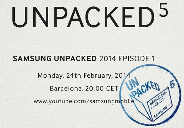Galaxy S5: Samsungs Unpacked-Event findet am 24. Februar statt