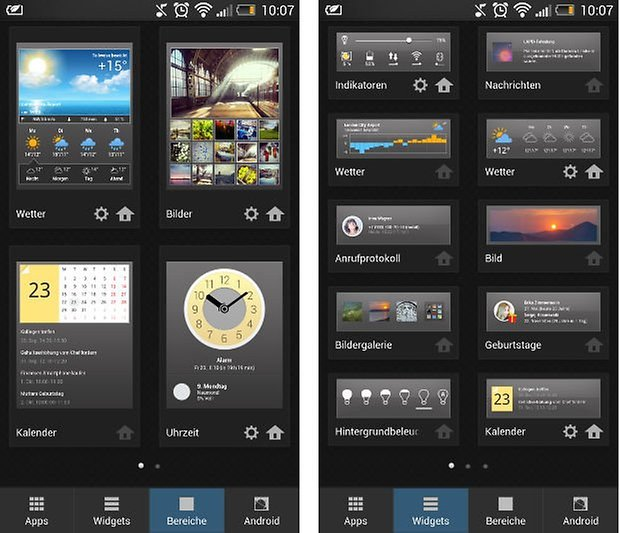 yandex widgets panels