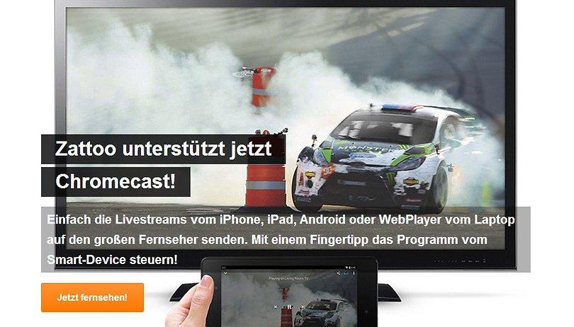 Zattoo Live TV jetzt auch mit Chromecast-Unterstützung: Ein perfektes Team