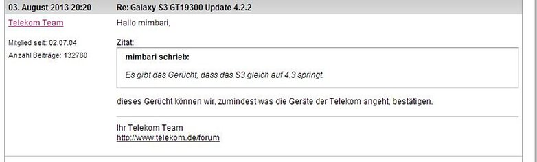 Telekom GalaxyS3 actualizacion