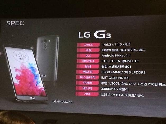 lg g3 especificaciones