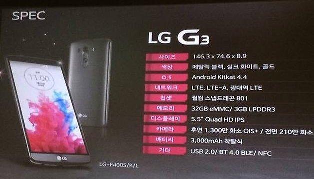 """LG G3 - Especificaciones confirmadas en su presentación """"secreta"""" en Corea del Sur"""