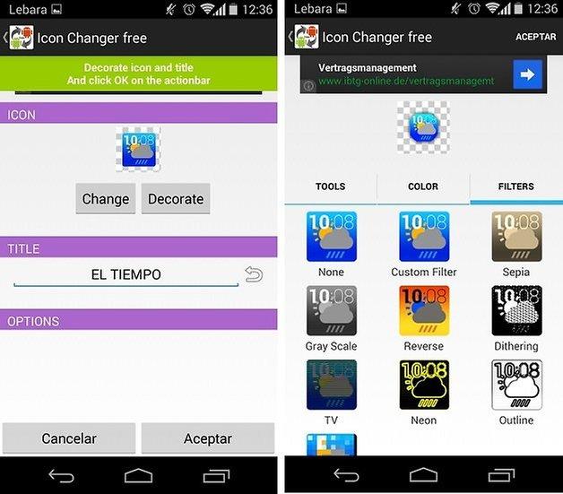 personalizar aplicaciones 2