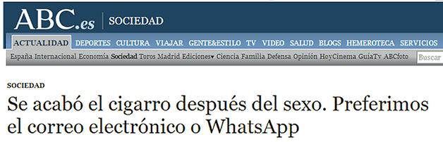 whatsapp cigarro