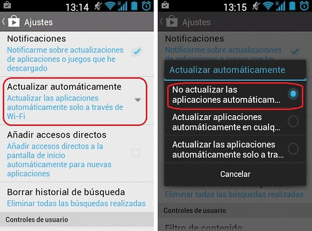 actualizaciones automaticas 2