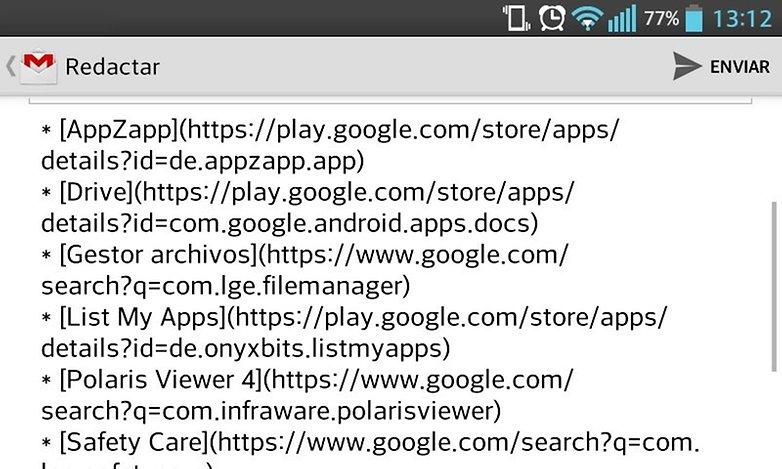 aplicaciones listado