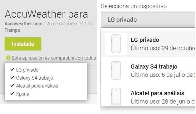 google play dispositivos 4