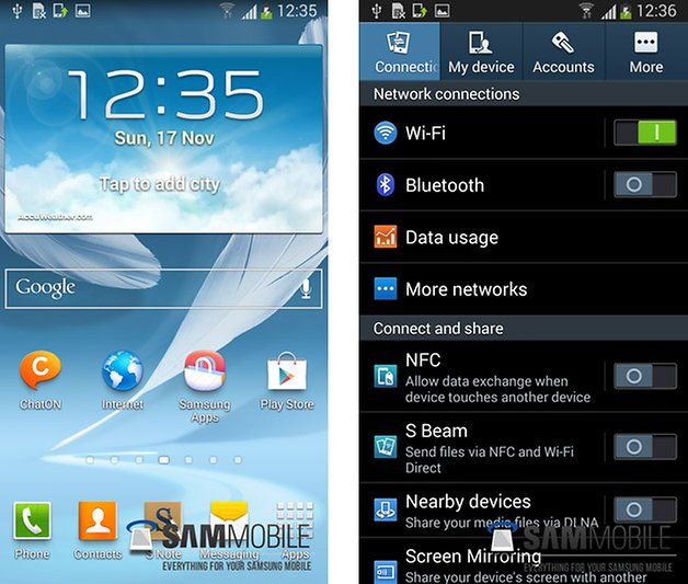 note 2 android 4 3 homescreen settings
