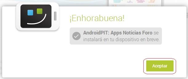 app instalada
