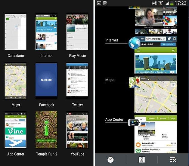comparacion aplicaciones abiertas sense touchwiz