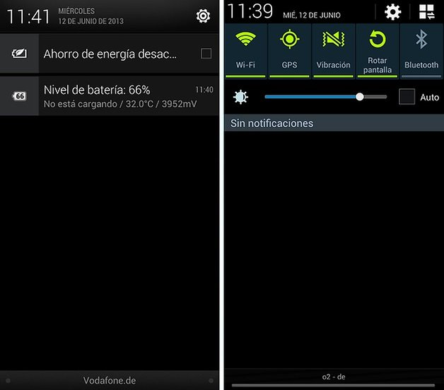comparacion sense touchwiz notificaciones