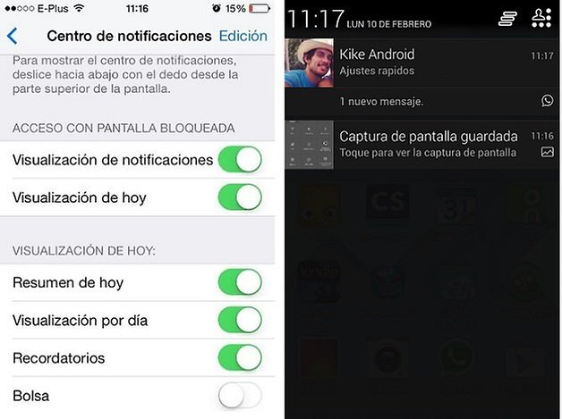 notificaciones ios android