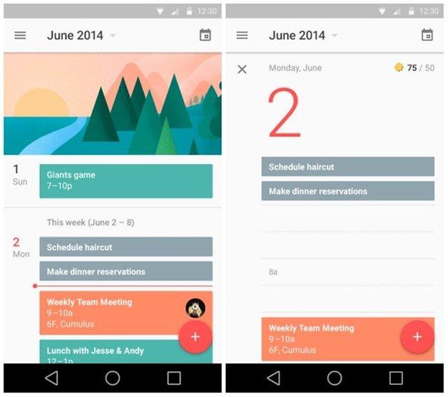 calendario android L