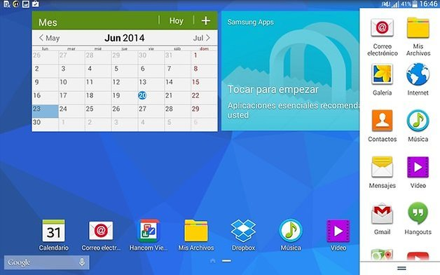 multiventana galaxy tab 4