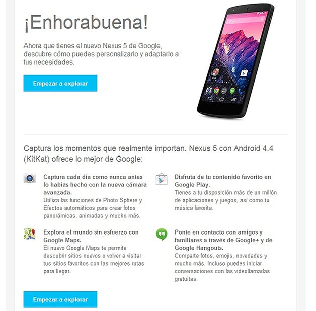 Nexus5 email