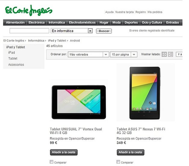 elcorteingles nexus