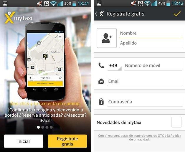 taxi registro