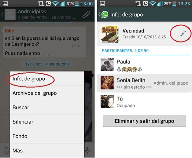 whatsapp grupos gestion