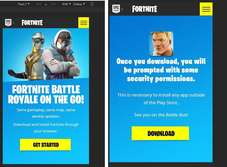 Fornite for android via sideload screenshot thesbros 01