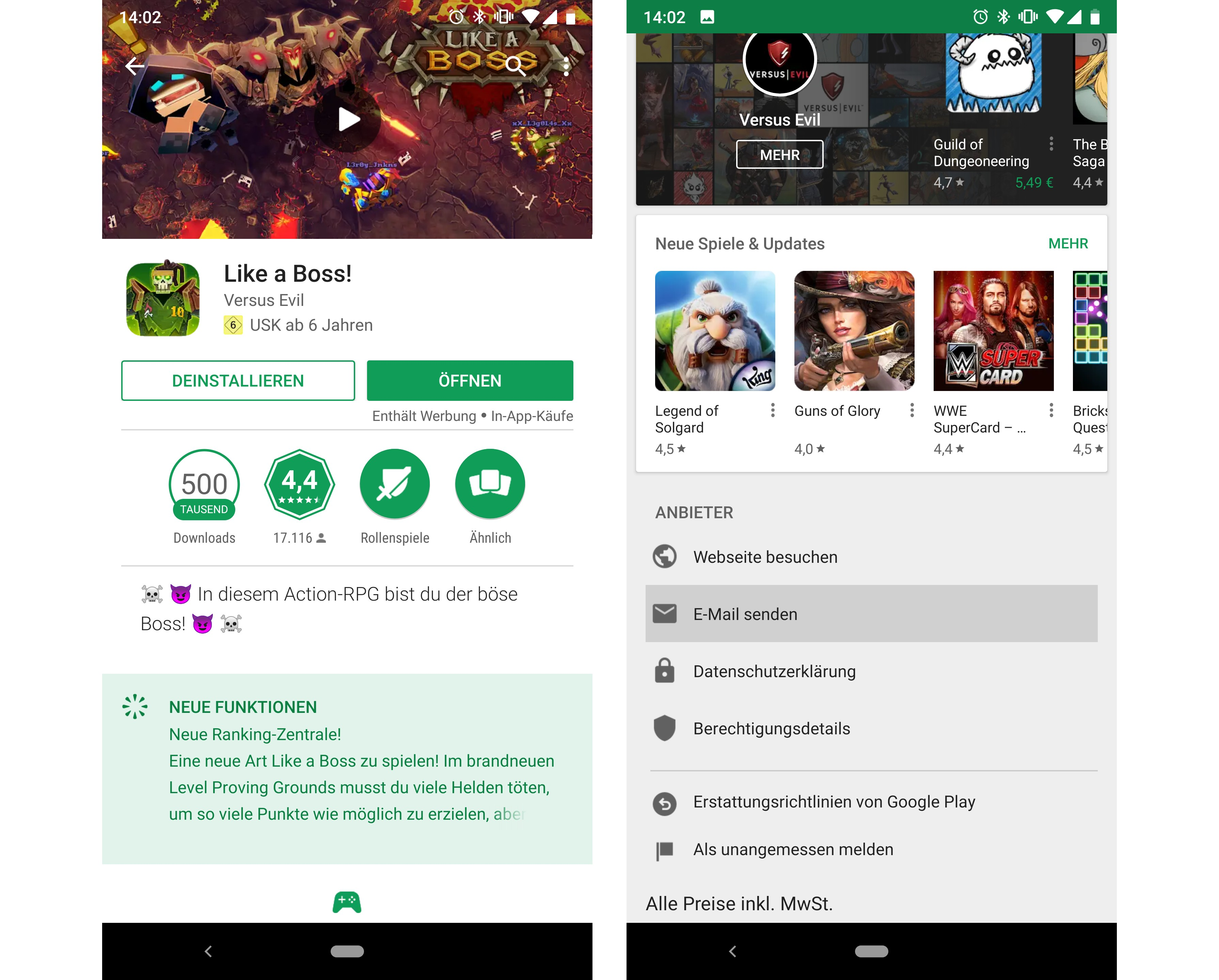 App stürzt ab android