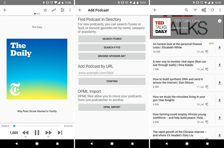 best podcast apps android antennaPod 01