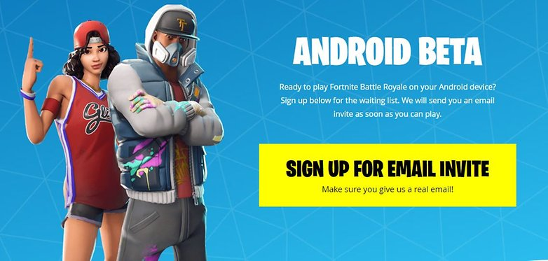fortnite mobile android beta signup epic 01
