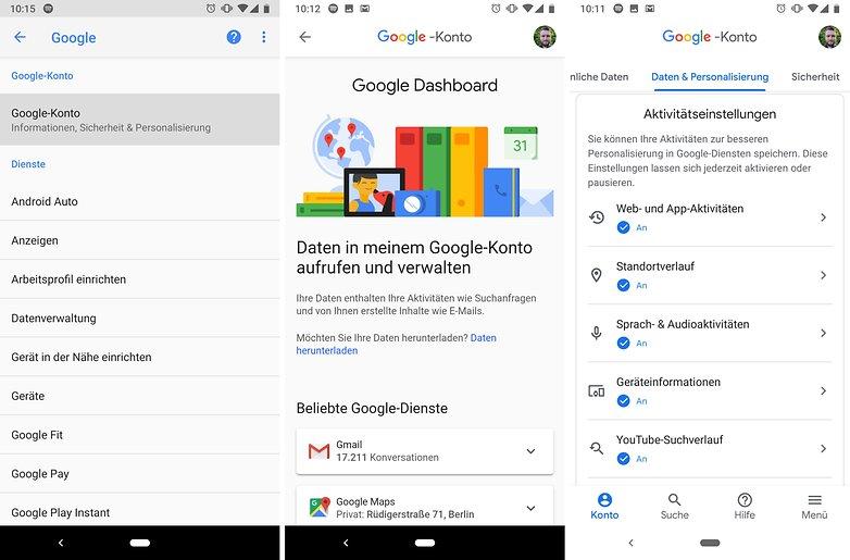 google dashboard on phone ap 01