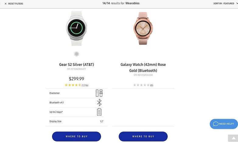 samsung galaxy watch leak us webseite cnet 01