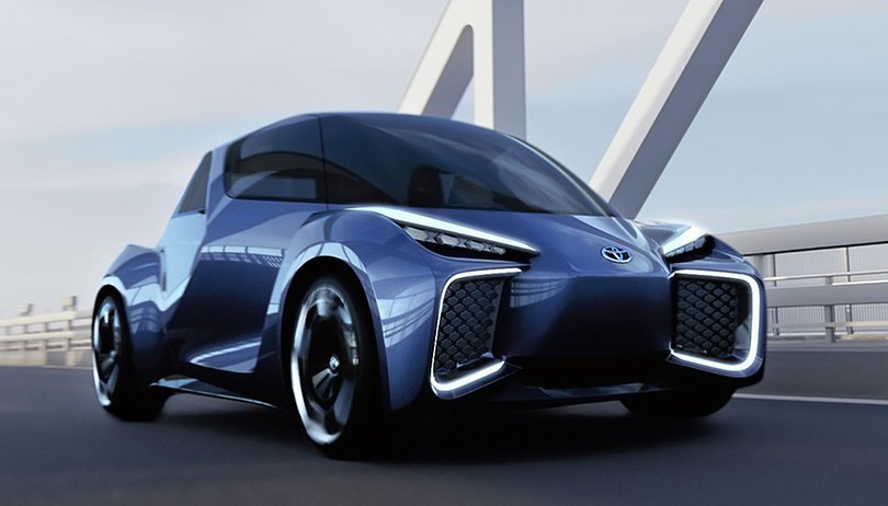 The Toyota Rhombus is electric car you sit like a bathtub
