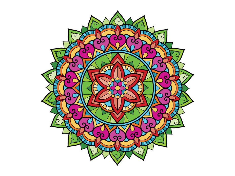 Mandala Coloring Pages for Adults Digital Adult Coloring Book