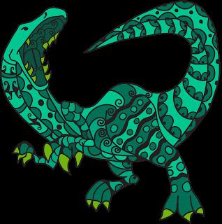 Malvorlagen Dinosaurier für Erwachsene
