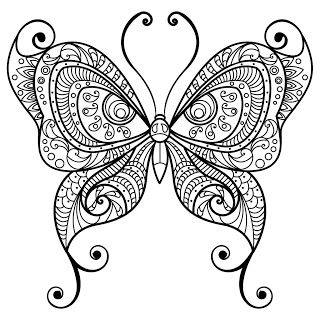 Butterfly Coloring Pages Coloring Book for Adults Android