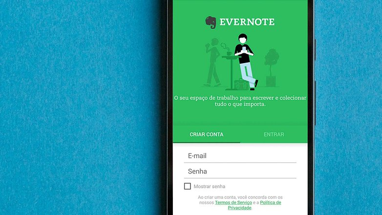 AndroidPIT BRA evernote app