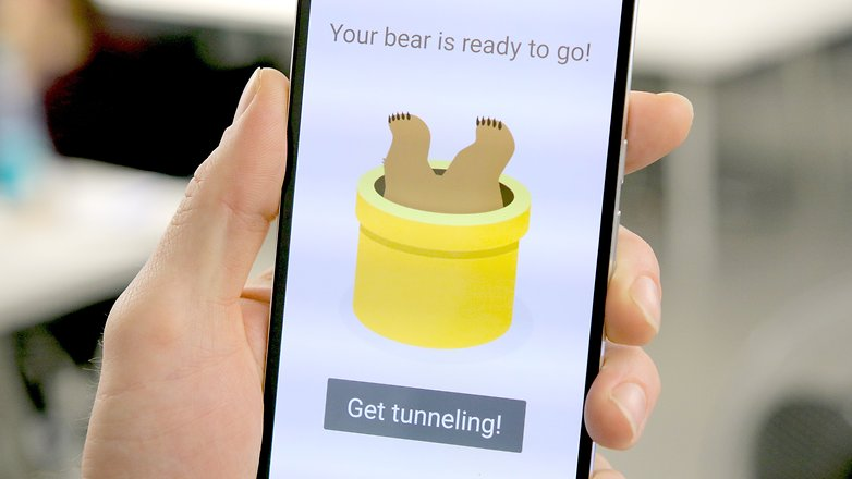 AndroidPIT Nexus 6P tunnel bear vpn