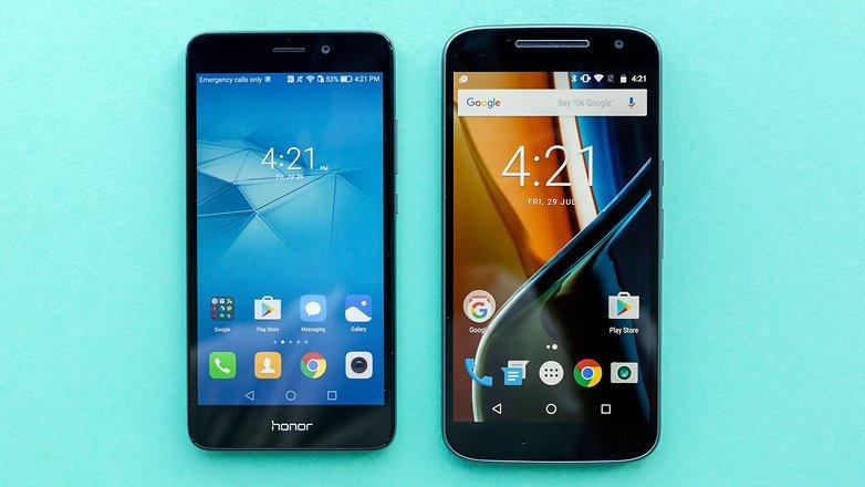 AndroidPIT lenovo moto g4 vs honor 5c comparison 9