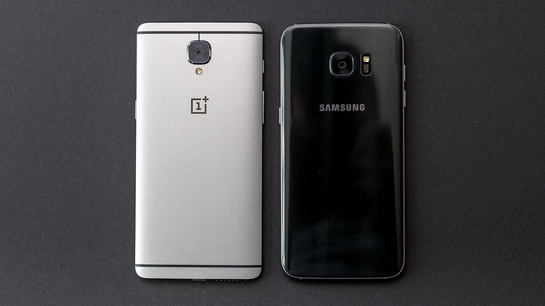 AndroidPIT oneplus 3 vs samsung galaxy s7 edge back