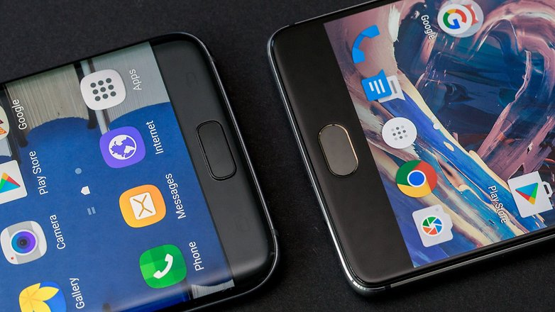 AndroidPIT oneplus 3 vs samsung galaxy s7 edge finger print scanner