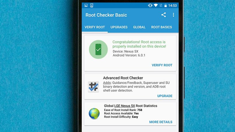 AndroidPIT root checker app how to root