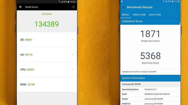 AndroidPIT Samsung Galaxy note7 benchmark
