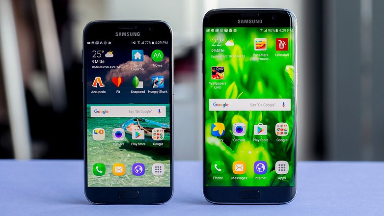 AndroidPIT samsung galaxy s7 samsung galaxy edge comparison 1