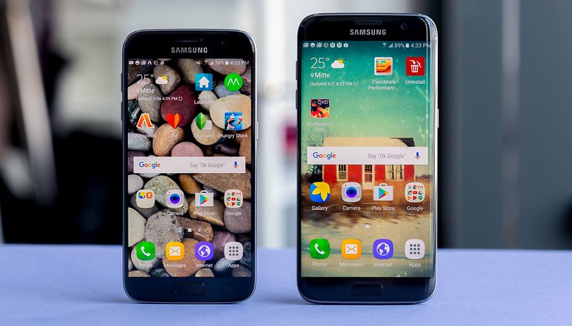 Samsung Galaxy S7 vs Galaxy S7 Edge comparison